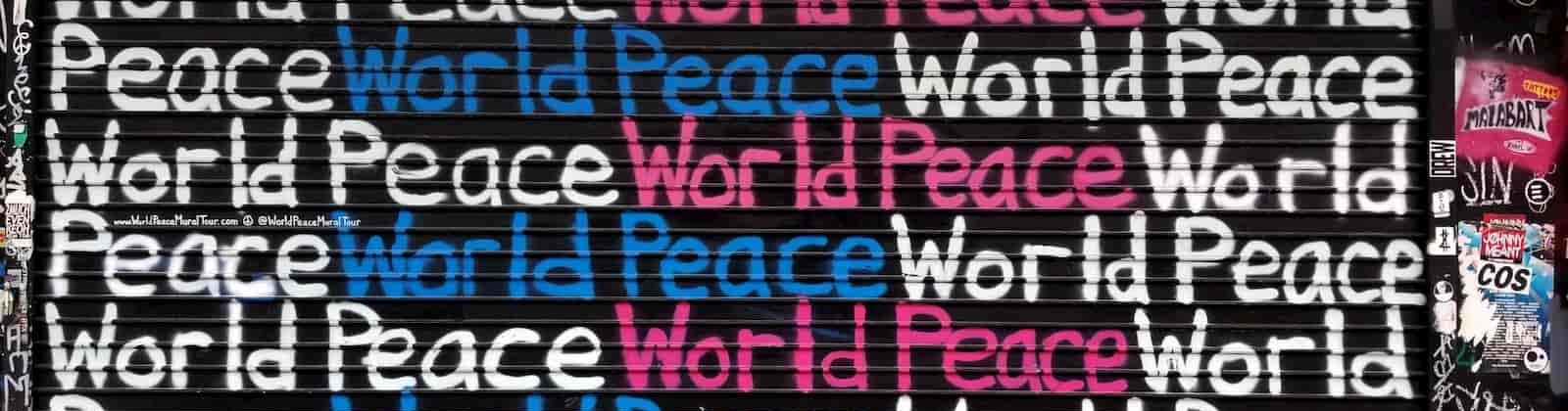 world peace graffiti
